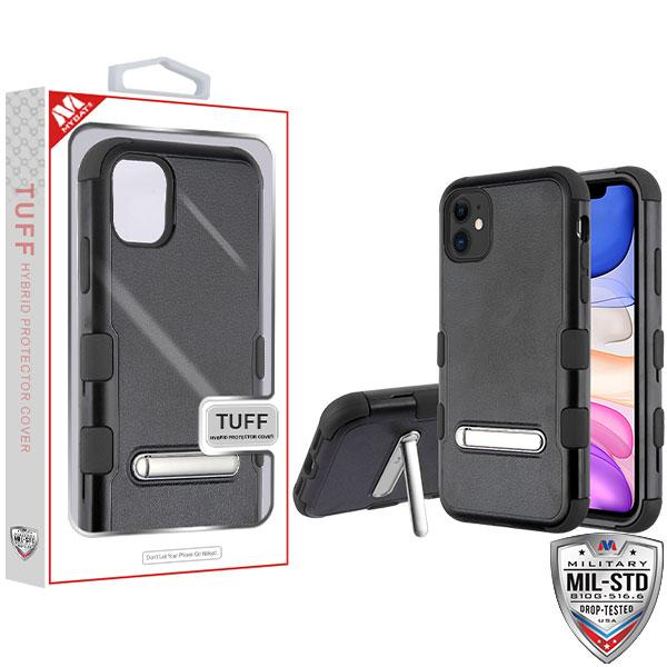 Case - MYBAT Natural Black/Black TUFF (with Magnetic Metal Stand) Hybrid Guaranteed Drop Protective Case For IPhone 11