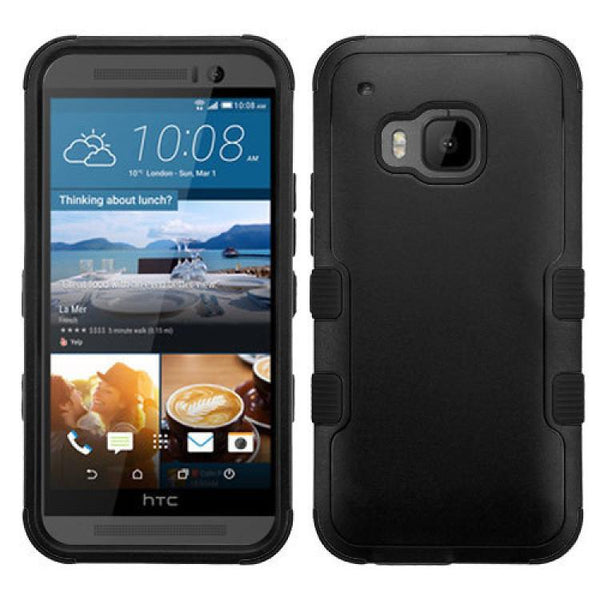 Case - MYBAT Natural Black TUFF Hybrid Phone Protector Cover Case For HTC One M9