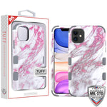 Case - MYBAT Pink Marbling/Iron Gray TUFF Hybrid Guaranteed Drop Protective Case For IPhone 11