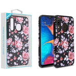 Case - MYBAT Pinky White Rose/Black Astronoot Case For Samsung Galaxy A20, Samsung Galaxy A50