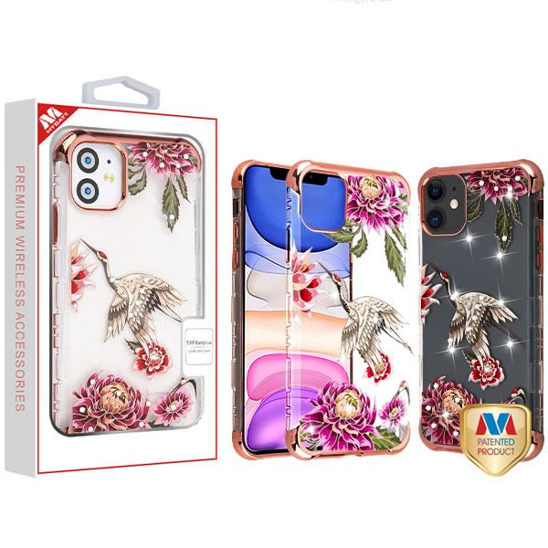Case - MYBAT Rose Gold Plating/Crane Diamante TUFF Klarity Lux Candy Skin Cover Case For IPhone 11