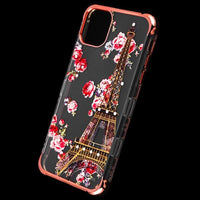 Case - MYBAT Rose Gold Plating/Paris In Full Bloom Diamante TUFF Klarity Lux Candy Skin Cover Case For IPhone 11
