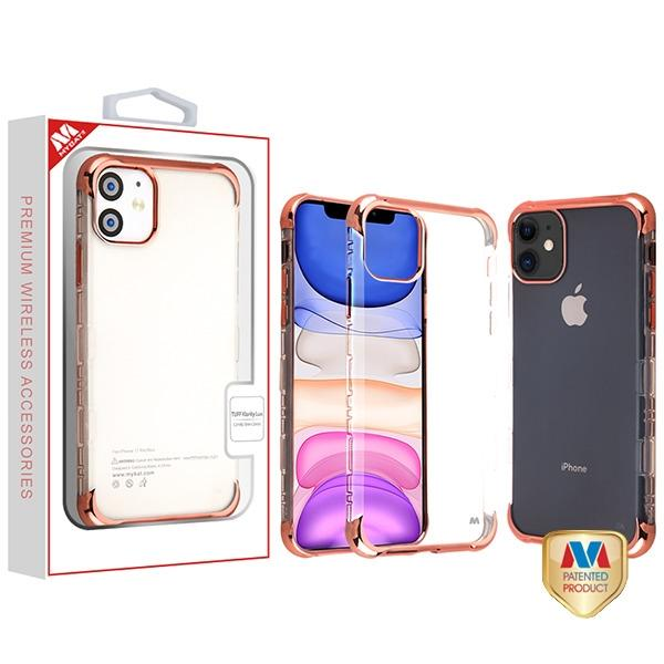 Case - MYBAT Rose Gold Plating TUFF Klarity Lux Candy Skin Cover Case For IPhone 11