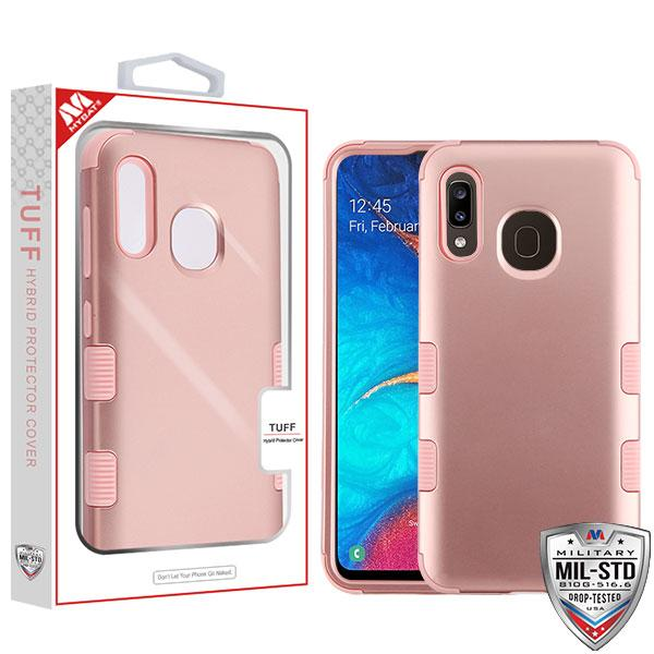 Case - MYBAT Rose Gold/Rose Gold TUFF Hybrid Guaranteed Drop Protective Case For Samsung Galaxy A20