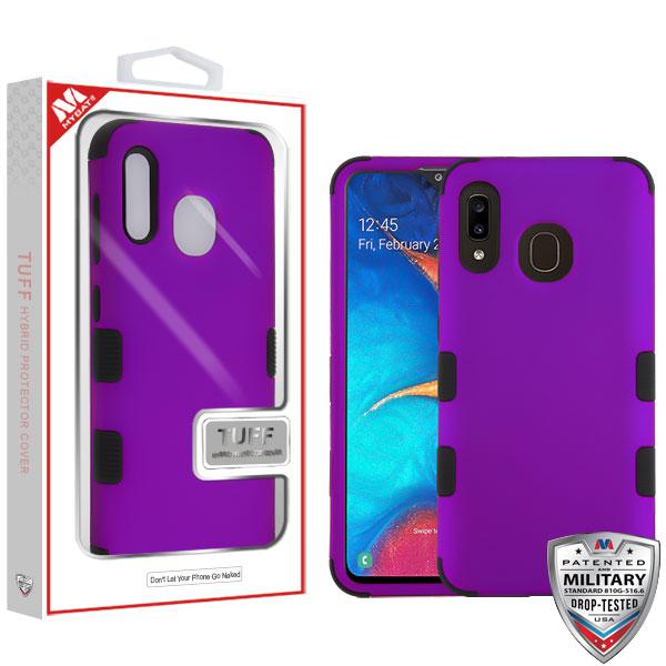 Case - MYBAT Rubberized Grape/Black TUFF Hybrid Guaranteed Drop Protective Case For Samsung Galaxy A20