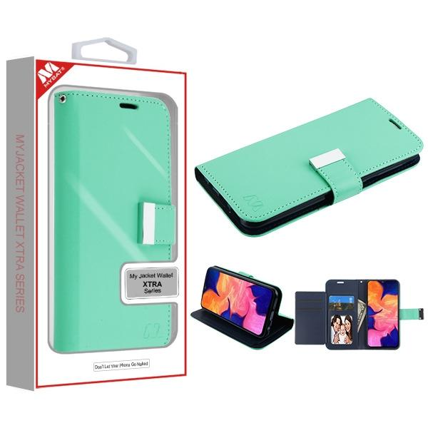 Case - MYBAT Teal Green/Dark Blue MyJacket Wallet Xtra Case For Samsung Galaxy A10e