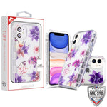 Case - MYBAT Transparent Clear/Purple Stargazers TUFF Lucid Hybrid Guaranteed Drop Protective Case For IPhone 11