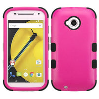 Case - MYBAT TUFF Hybrid Phone Protective Case (Hot Pink/ Black) For Motorola Moto E (2nd Gen.)