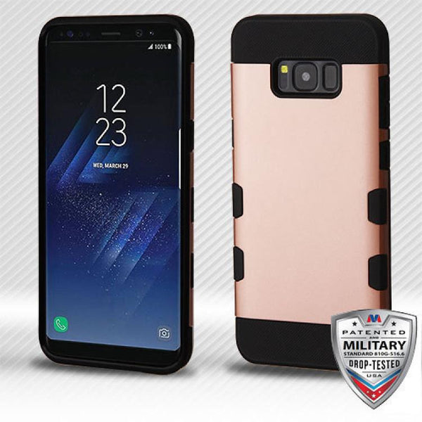 Case - MYBAT TUFF Hybrid Phone Protective Case - Military Drop Test Certified (Rose Gold/Black) For Samsung Galaxy S8 Plus
