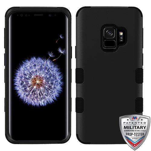 Case - MYBAT TUFF Hybrid Phone Protective Case [Military-Grade Certified] (Rubberized Black) For Samsung Galaxy S9