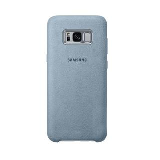 Case - Samsung Alcantara Protective Case (Mint Blue) For Galaxy S8