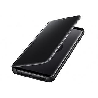 Case - Samsung Clear View Protective Case With Stand (Black) For Galaxy S9