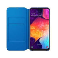 Case - Samsung OEM Black Wallet Cover Case For Galaxy A50
