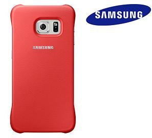Case - Samsung Protective Case (Coral) For Galaxy S6 Edge
