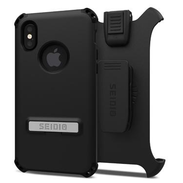 Case - Seidio (Black) DILEX Combo Case With Kickstand For IPhone X, IPhone Xs