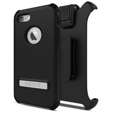 Case - Seidio (Black) DILEX Combo Casewith Metal Kickstand For IPhone 7, IPhone 8