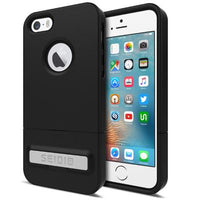 Case - Seidio (Black) Surface Case (New) With Metal Kickstand For IPhone SE