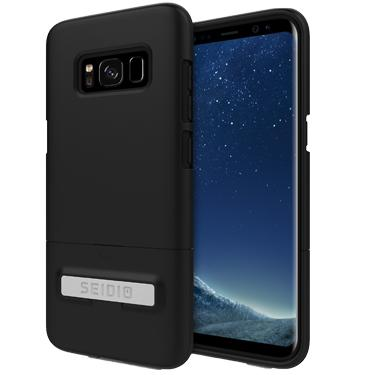Case - Seidio (Black) Surface Case With Kickstand For Samsung Galaxy S8