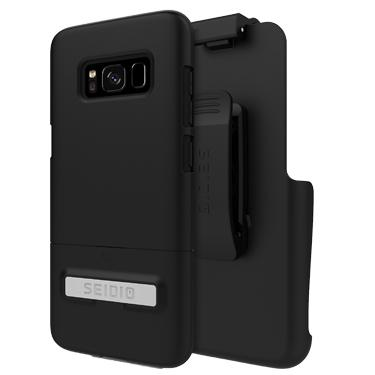 Case - Seidio (Black) Surface Combo Case With Kickstand For Samsung Galaxy S8 Plus