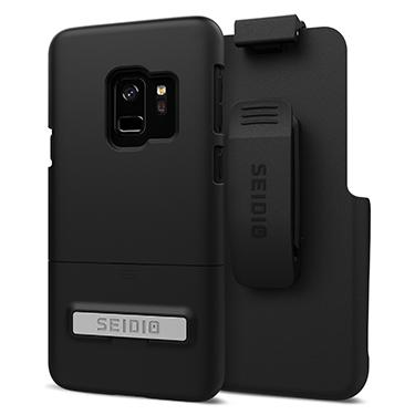 Case - Seidio (Black) Surface Combo Case With Kickstand For Samsung Galaxy S9