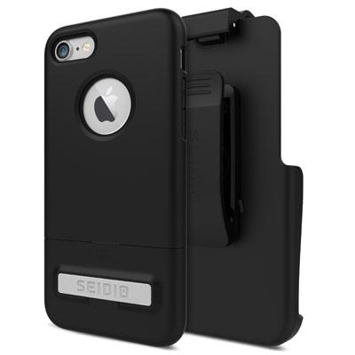 Case - Seidio (Black) SURFACE Combo Case With Metal Kickstand For IPhone 7, IPhone 8