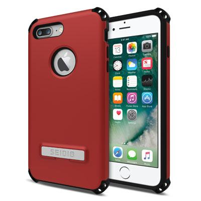 Case - Seidio (Dark Red/Black) Dilex Case With Metal Kickstand For IPhone 7 Plus, IPhone 8 Plus