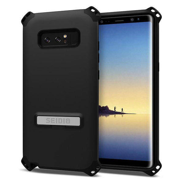 Case - Seidio Dilex Case (with Metal Kickstand) (Black) (Lifetime Warranty By Seidio) For Samsung Galaxy Note 8