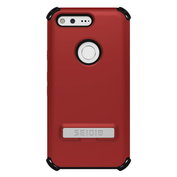 Case - Seidio DILEX Case With Metal Kickstand (Dark Red / Black) For Google Pixel