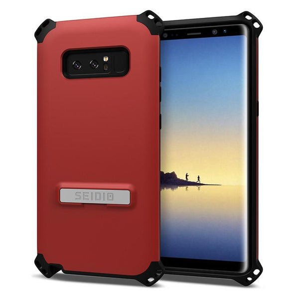 Case - Seidio Dilex Case (with Metal Kickstand) (Dark Red/Black) (Lifetime Warranty By Seidio) For Samsung Galaxy Note 8