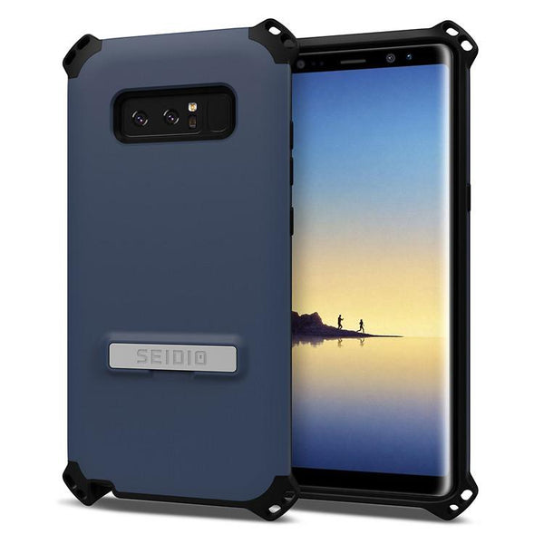 Case - Seidio Dilex Case (with Metal Kickstand) (Midnight Blue/Black) (Lifetime Warranty By Seidio) For Samsung Galaxy Note 8