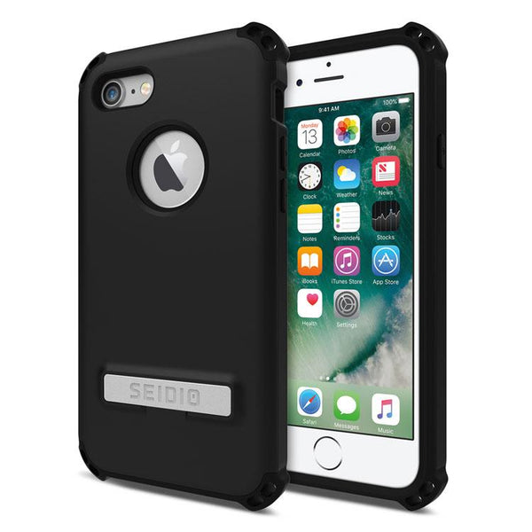 Case - Seidio DILEX Case With Metal Kickstand With Lifetime Warranty (Black / Black) For IPhone 8 Plus, IPhone 7 Plus