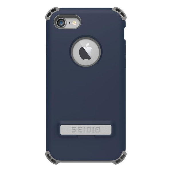 Case - Seidio DILEX Case With Metal Kickstand With Lifetime Warranty (Midnight Blue / Gray) For IPhone 8 Plus, IPhone 7 Plus