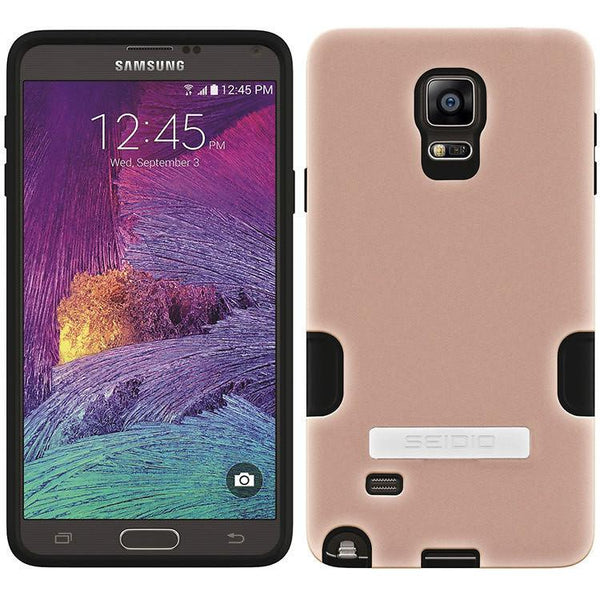 Case - Seidio DILEX Pro Case With Metal Kickstand (Rose Gold) For Samsung Galaxy Note 4