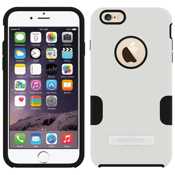 Case - Seidio DILEX Pro With Kickstand (Glossed White) For IPhone 6 Plus, IPhone 6S Plus