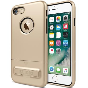 Case - Seidio (Gold/Black) Surface Case With Metal Kickstand For IPhone 7, IPhone 8