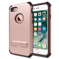 Case - Seidio (Rose Gold/Chocolate Brown) Dilex Case With Metal Kickstand For IPhone 7, IPhone 8