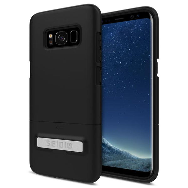 Case - Seidio SURFACE Case With Metal Kickstand (Black/Black) For Samsung Galaxy S8 Plus