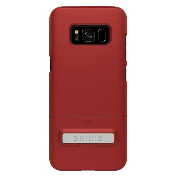Case - Seidio SURFACE Case With Metal Kickstand (Dark Red / Black) For Samsung Galaxy S8 Plus