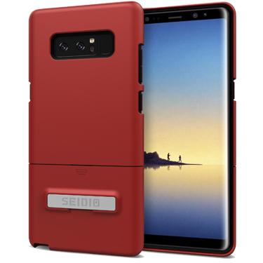 Case - Seidio Surface Case (with Metal Kickstand) (Dark Red/Black) (Lifetime Warranty By Seidio) For Samsung Galaxy Note 8