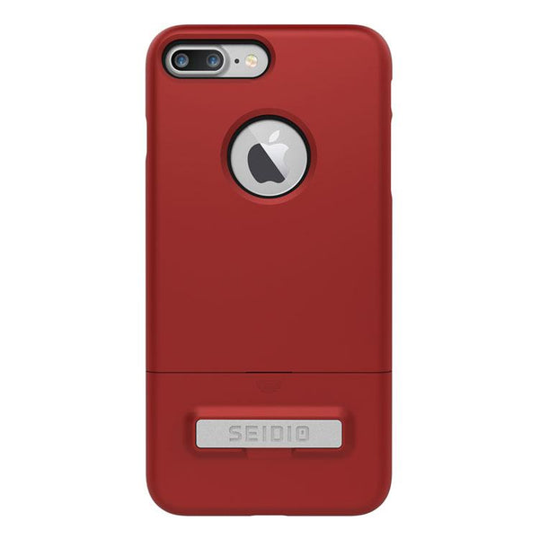 Case - Seidio SURFACE Case With Metal Kickstand With Lifetime Warranty  (Dark Red / Black) For IPhone 8 Plus, IPhone 7 Plus