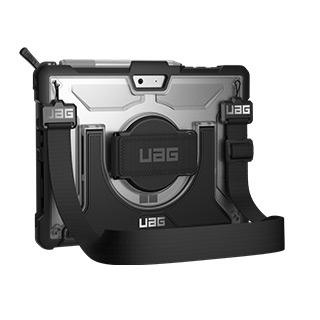 Case - UAG Clear/Black (Ice) Plasma Series Case For Microsoft Surface Go