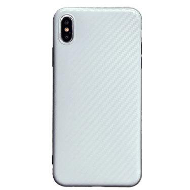 Case - Uolo White Sleek Satin Carbon Case For IPhone Xs Max