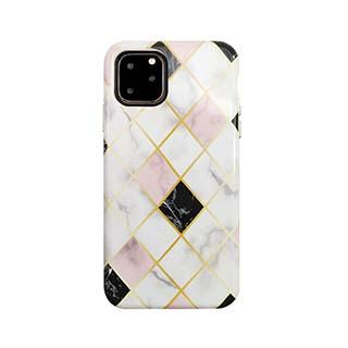 Case - Uunique Blue/Gold (Diamond Marble) Nutrisiti Eco Printed Marble Back Case For IPhone 11 Pro