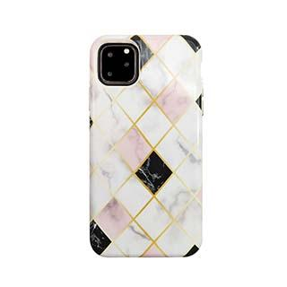 Case - Uunique White/Rose Gold (Diamond Marble) Nutrisiti Eco Printed Marble Back Case For IPhone 11 Pro Max