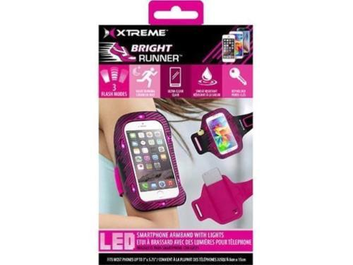 Case - Xtreme Cables Bright Runner Carrying Case (Armband) For Smartphone (Neon Pink)