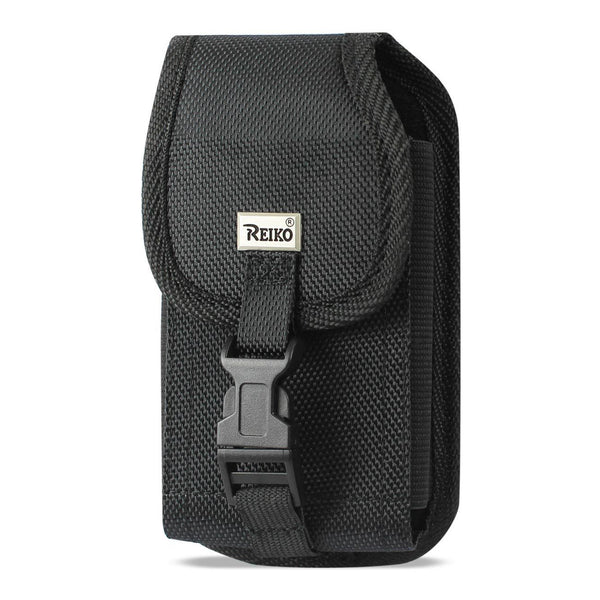 Holster - Reiko Vertical Rugged Holster Pouch With Buckle Clip (Black)