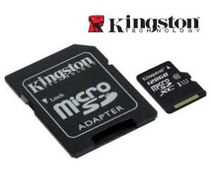 Kingston Class 10 128 Gb Gen 2 Micro SDHC Flash Card With Adapter