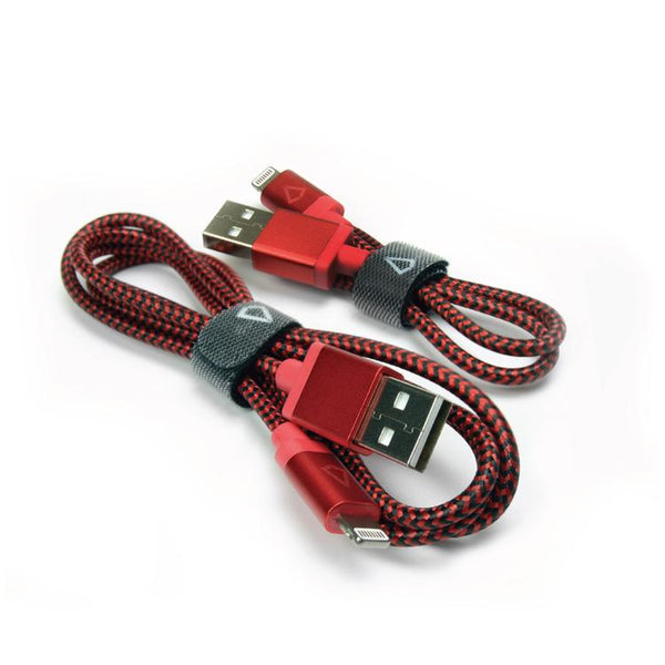 Lightning - Libratel 3+1 Feet Lightning Braided Cable (Black/Red)