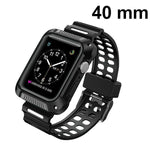 MYBAT Black/Gray Silicone Sport Watchband With Case For APPLE Watch Series 5 40mm
