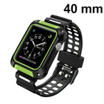 MYBAT Black/Green Silicone Sport Watchband With Case For APPLE Watch Series 5 40mm